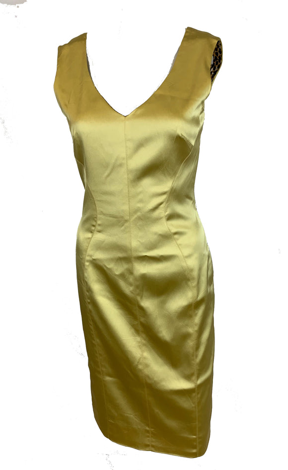 Dolce and Gabbana Yellow/Gold Dress Size 6