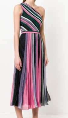Missoni Metallic Stripe Gown Ankle/Calf Length Size 0-2
