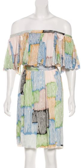 Missoni Print Off Shoulder Dress Size 10-12