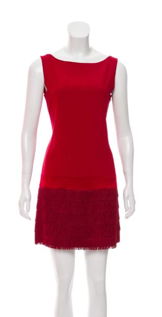 Moschino Red Flapper Dress Sz 8
