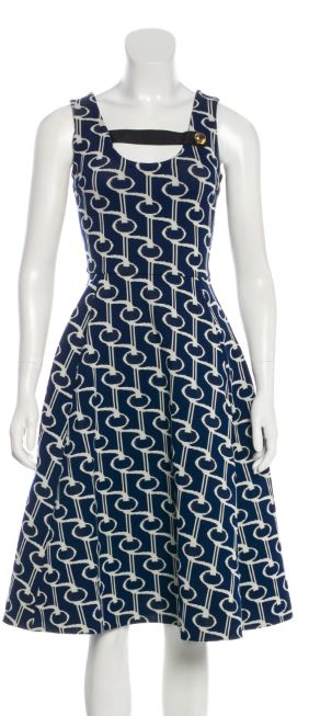 Prada Navy and White Dress Size 0-2