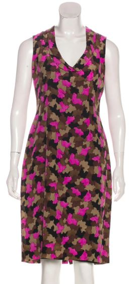 Prada Pink Print Dress Size 4-6