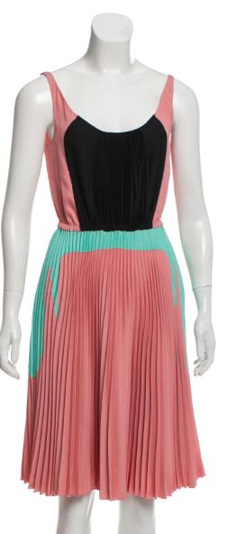Prada Turquoise, Rose, and Black Dress Size 2-4