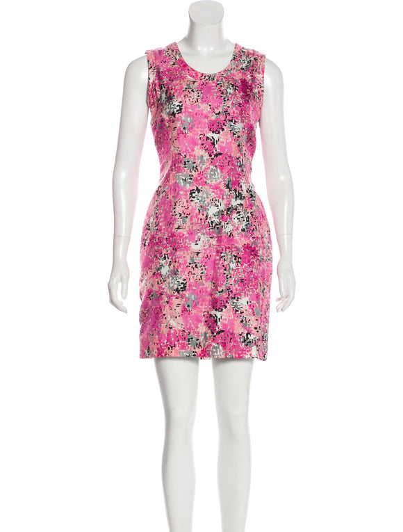 Prada Pink Print Dress Size 2-4
