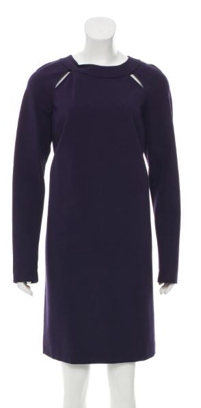Missoni M Dark Purple Long Sleeve Dress Sz 8-10