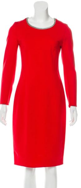 Yves Saint Laurent Wool Red Dress Size 6