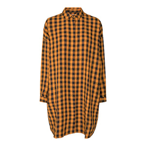 Load image into Gallery viewer, SUSAN-LS-SHIRT - ORANGE CHECK