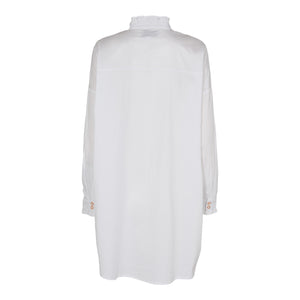 Load image into Gallery viewer, SUSAN-LS-FRILL-SHIRT - WHITE