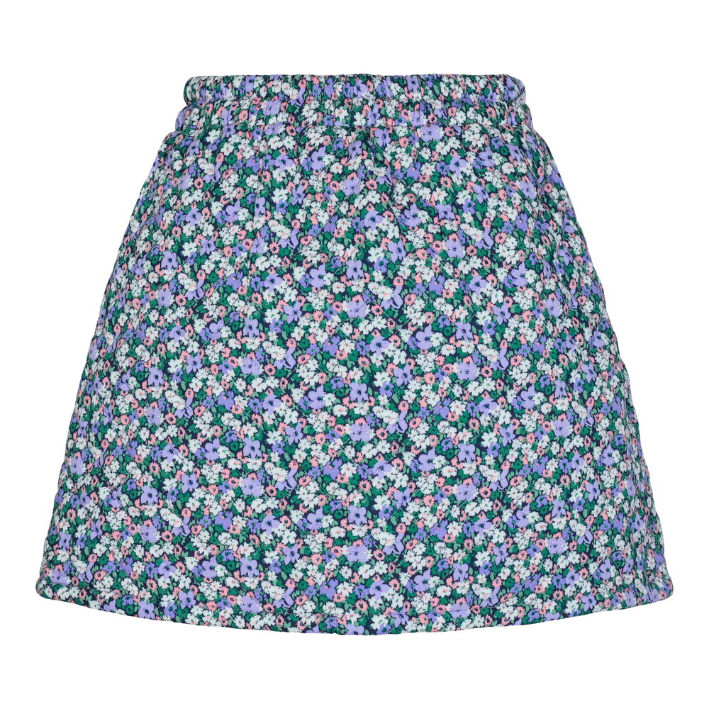 Load image into Gallery viewer, ABBY-QUILT-SKIRT - PURPLE FLOWER