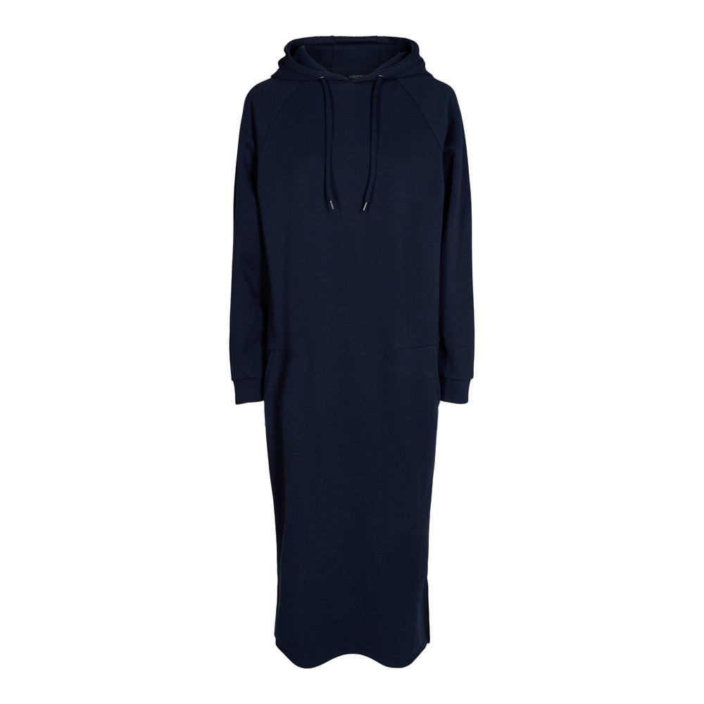 Load image into Gallery viewer, OLYMPIA-HOODIE-DRESS - NAVY