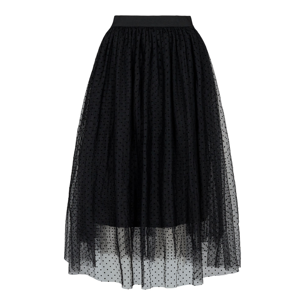 LUNA-SKIRT - BLACK DOT