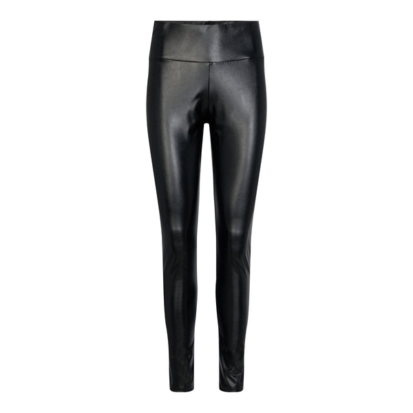 NITA PU LEGGINGS - BLACK