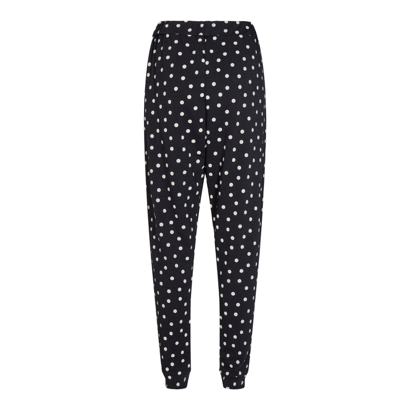 MELISSA-PANTS - BLACK WHITE DOT