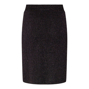 Load image into Gallery viewer, LINEA PENCEL SKIRT - BLACK BLUE
