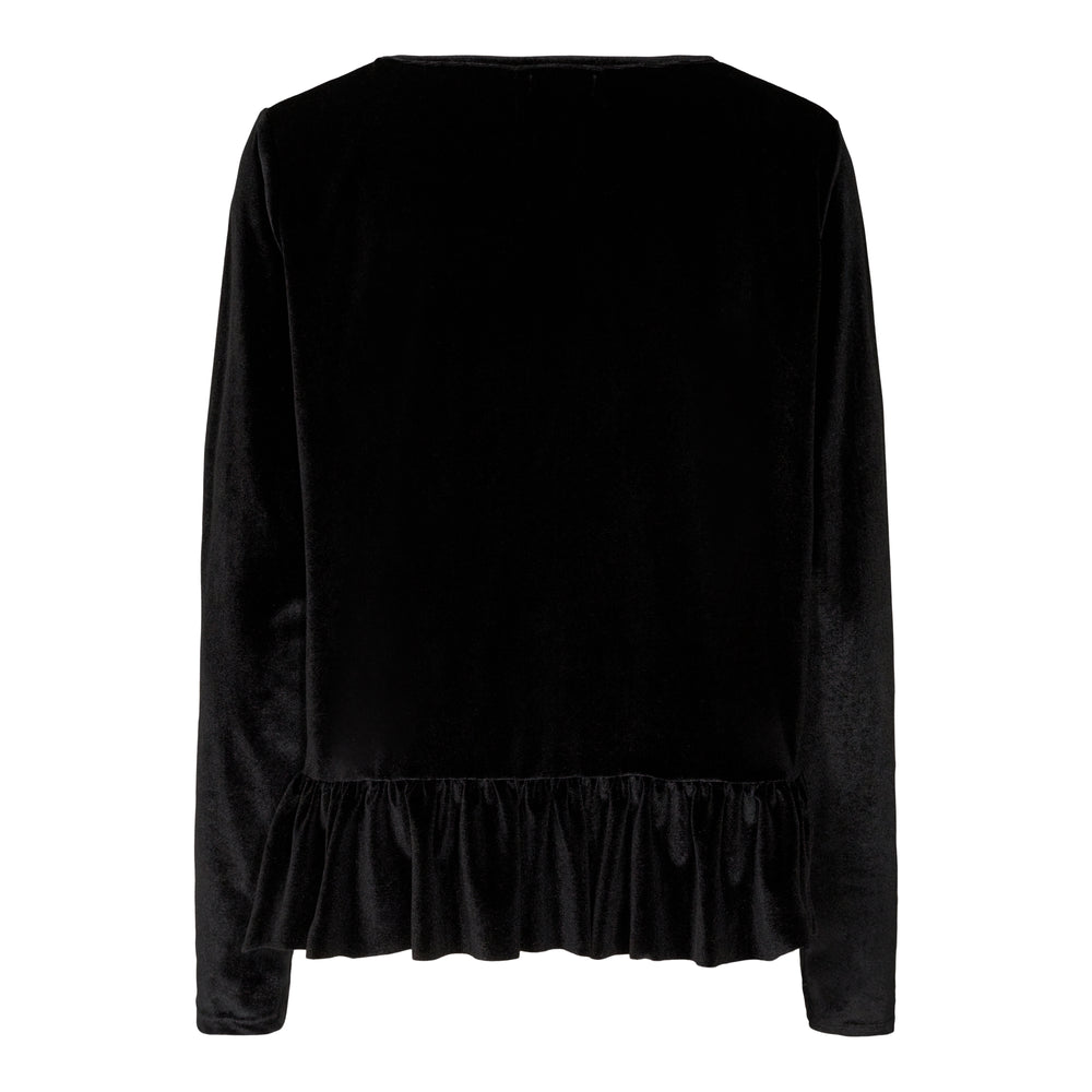 Load image into Gallery viewer, NALMA LS FRILL BLOUSE - BLACK
