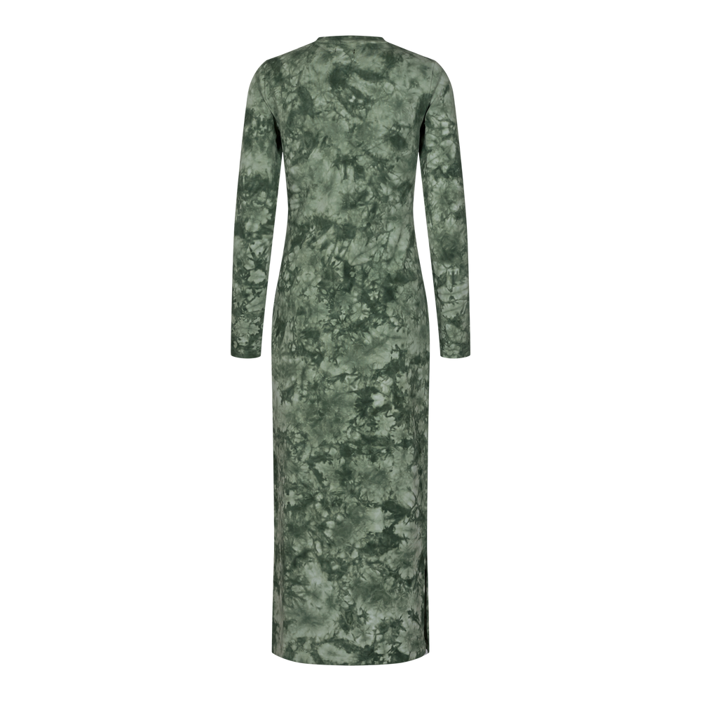 Load image into Gallery viewer, SOFIA LS DRESS - ARMY TIE DYE