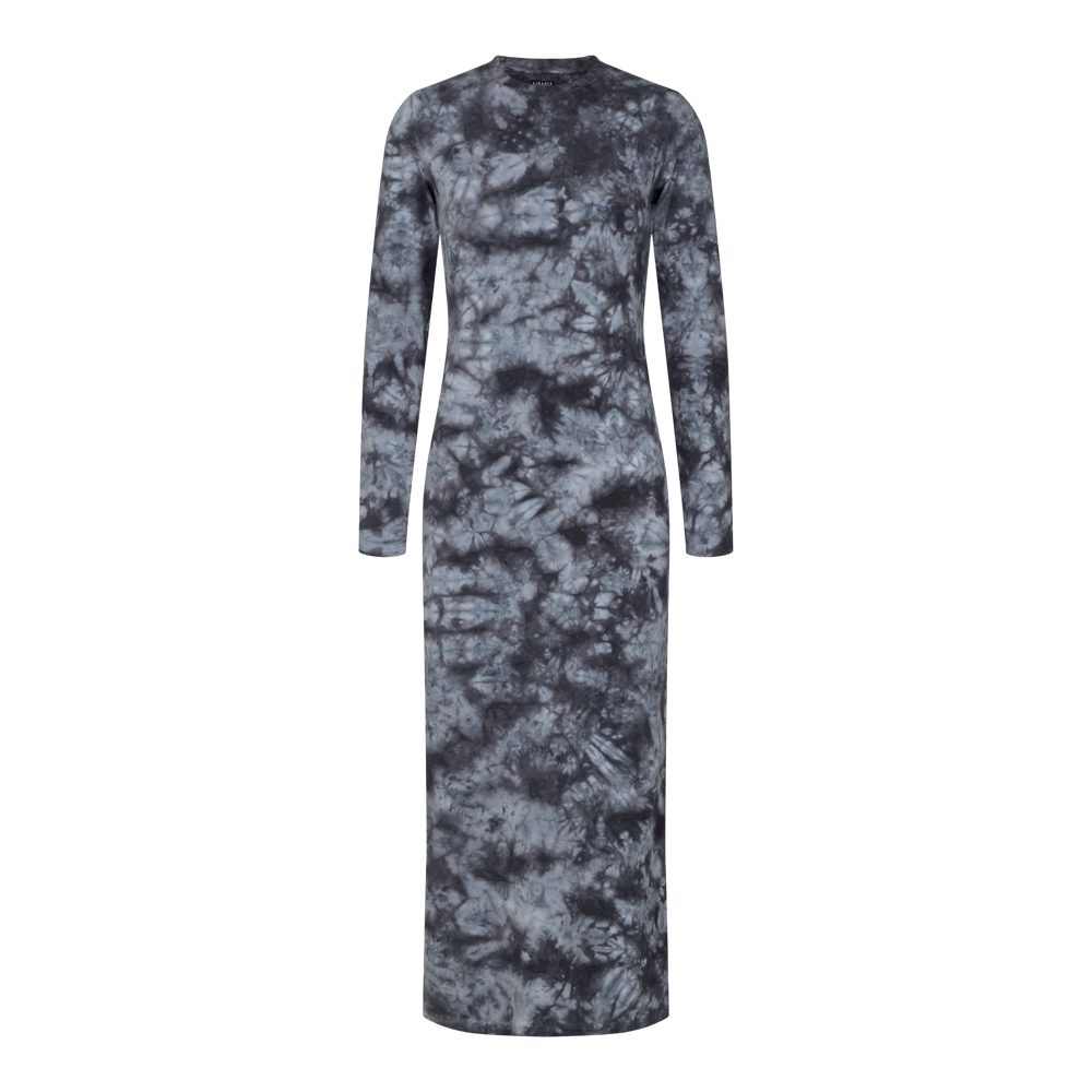 Load image into Gallery viewer, SOFIA LS DRESS - BLACK TIE DYE