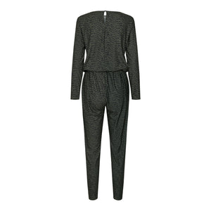 Load image into Gallery viewer, ALMA-LS-JUMPSUIT - OLIVE BLURRED LINES