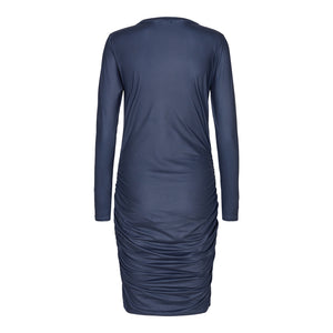 Load image into Gallery viewer, ALMA-LONG-DRESS - MIDNIGHT NAVY