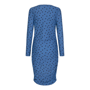 Load image into Gallery viewer, ALMA-LONG-DRESS - DUSTY BLUE DOT
