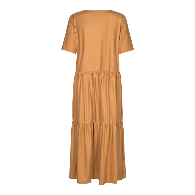 ALMA-SHORT-LOOSE-DRESS - CARAMEL