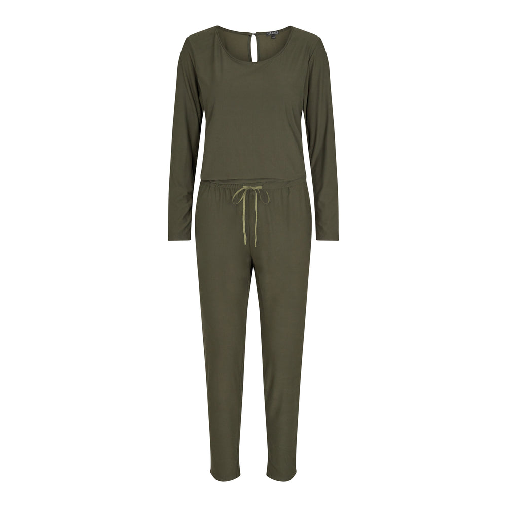 Load image into Gallery viewer, ALMA-LS-JUMPSUIT - OLIVE