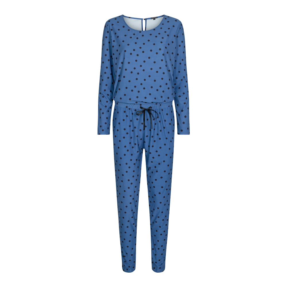 Load image into Gallery viewer, ALMA-LS-JUMPSUIT - DUSTY BLUE DOT