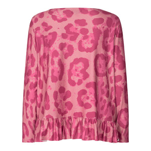 Load image into Gallery viewer, ALMA LS FRILL T-SHIRT - BIG LEO PINK