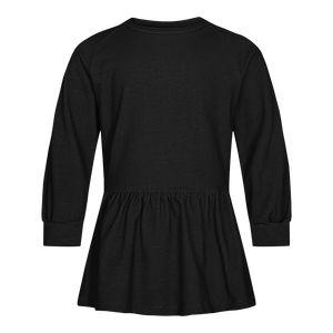 Load image into Gallery viewer, MELISSA-FRILL-CREWNECK-KIDS - BLACK