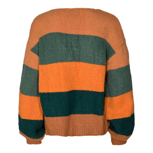 Load image into Gallery viewer, BOBBI CARDIGAN - DARK GREEN STRIPE