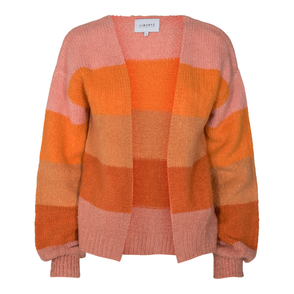 BOBBI CARDIGAN - ROSE ORANGE STRIPE