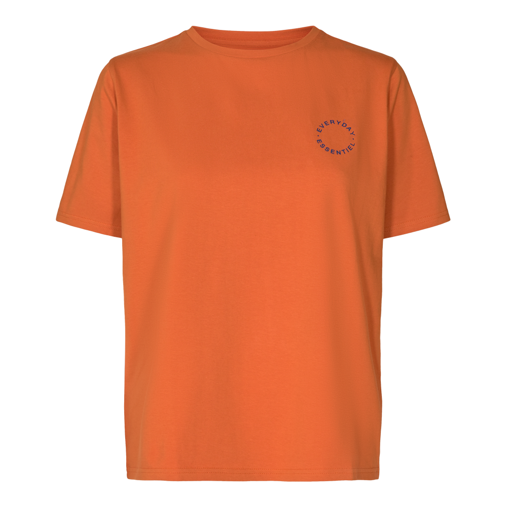 Load image into Gallery viewer, GINGER T-SHIRT ( ROUND LOGO) - ORANGE