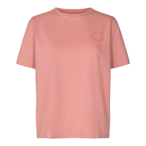 Load image into Gallery viewer, GINGER T-SHIRT ( ROUND LOGO) - ROSE