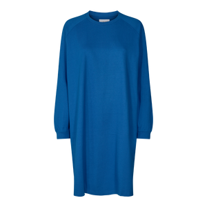 Load image into Gallery viewer, PENNY LS CREWNECK DRESS - CLASSIC BLUE