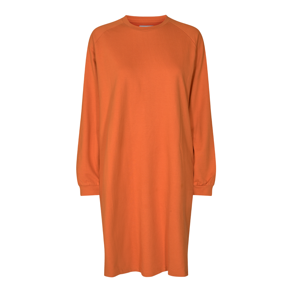 PENNY LS CREWNECK DRESS - ORANGE