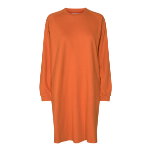 Load image into Gallery viewer, PENNY LS CREWNECK DRESS - ORANGE