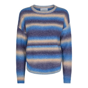 Load image into Gallery viewer, BILLI PULLOVER - BLUE SAND STRIPE