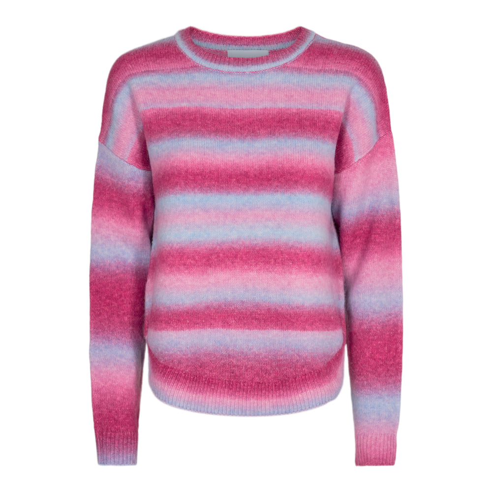 BILLI PULLOVER - LIGHTBLUE PINK STRIPE