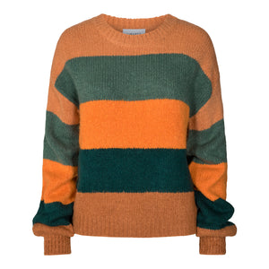 Load image into Gallery viewer, BOBBI PULLOVER - DARK GREEN STRIPE