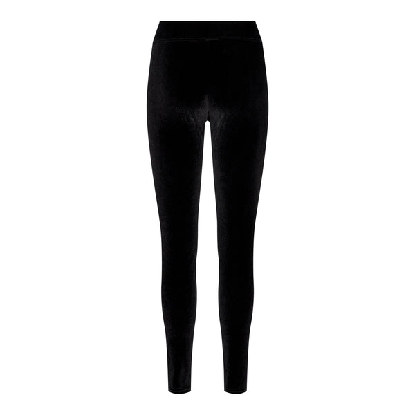 NALMA VELVET LEGGINGS - BLACK