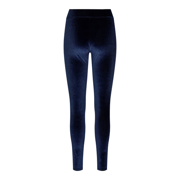 NALMA VELVET LEGGINGS - NAVY