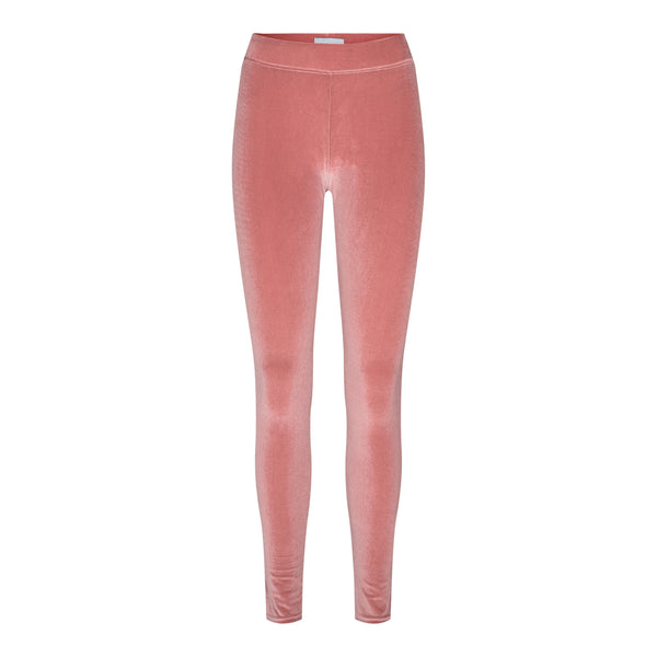 NALMA VELVET LEGGINGS - ROSE