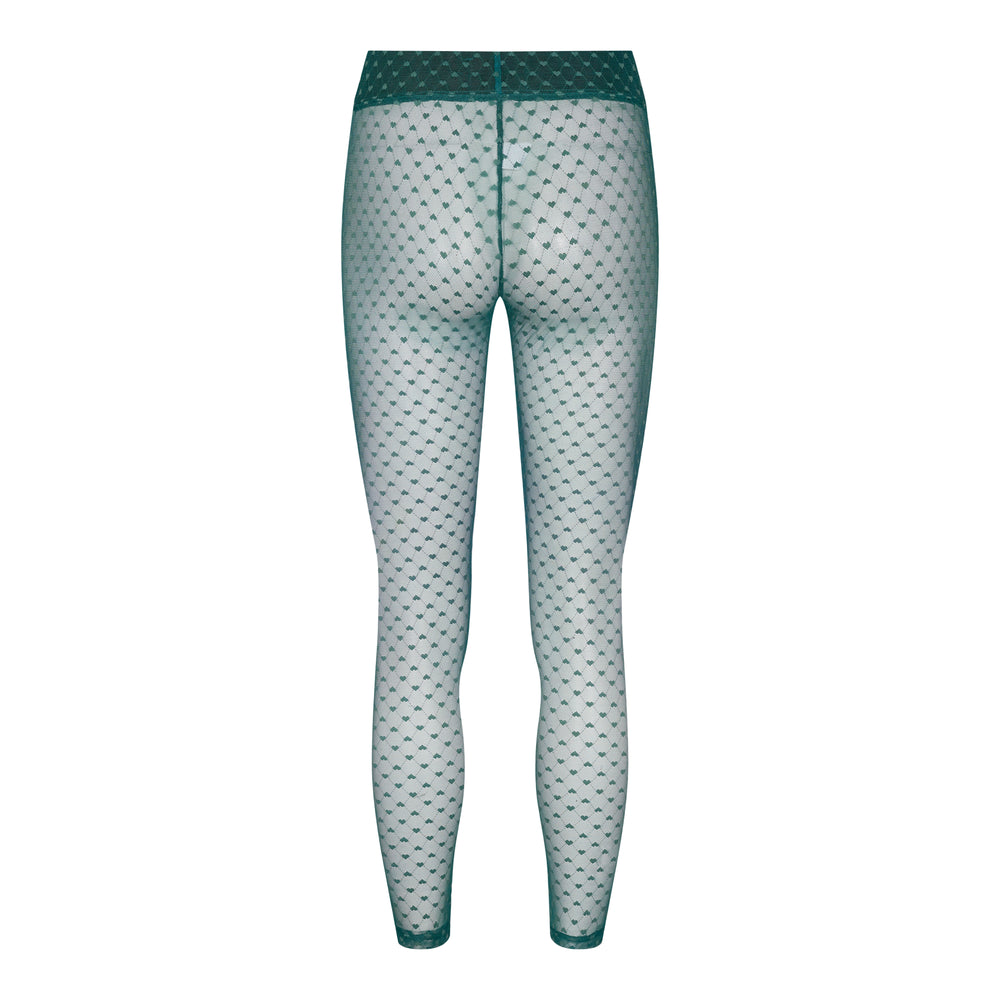 Load image into Gallery viewer, NILLA HEART LEGGINGS - DARK GREEN