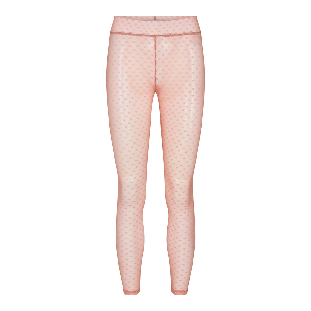NILLA HEART LEGGINGS - ROSE