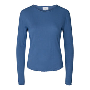 Load image into Gallery viewer, NATALIA LS ROUND NECK  BLOUSE - CLASSIC BLUE