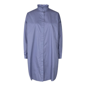 Load image into Gallery viewer, SUSAN LS FRILL COLLAR SHIRT - PURPLE