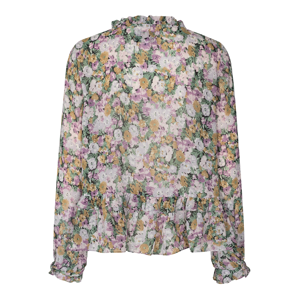 Load image into Gallery viewer, SHIRLEY BLOUSE - PURPLE FLOWER