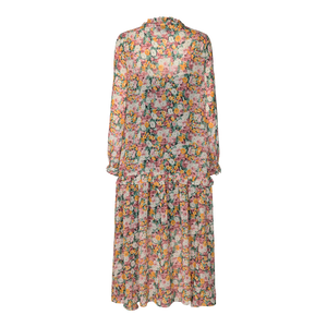 Load image into Gallery viewer, SHIRLEY LONG DRESS - ORANGE FLOWER