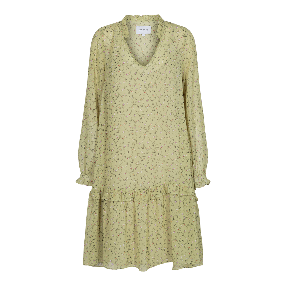 SHIRLEY-DRESS - DUSTY LIME