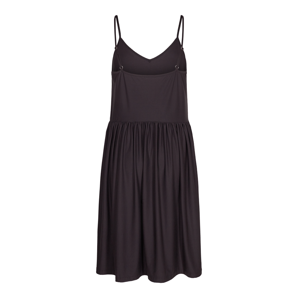 Load image into Gallery viewer, ALMA-FRILL-SLIP-DRESS - BLACK